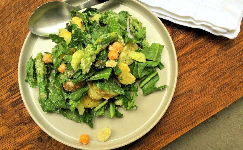 Grüner Kartoffelsalat mit Senf-Honig-Dressing